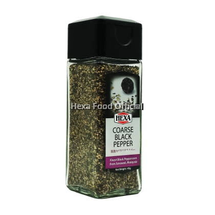 HEXA Black Pepper Coarse (Glass Jar) 45g