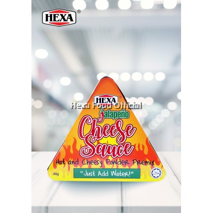 HEXA HALAL Jalapeno Cheese Sauce Premix 80gm