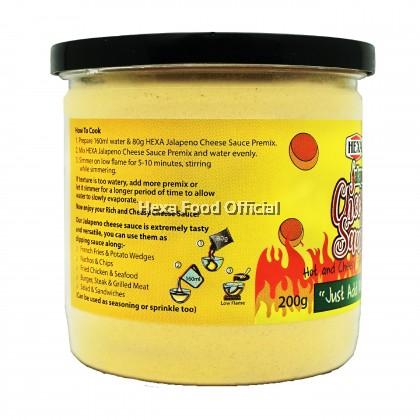 HEXA HALAL Cheese Sauce Premix (Original) + (Jalapeno) 200gm