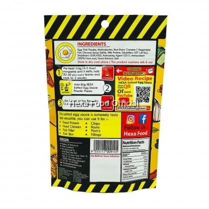 HEXA Salted Egg Sauce Powder Premix 80gm