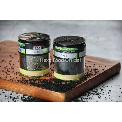 HEXA HALAL Salad & Drinks 4 IN 1 Seed Series 70gm Chia / Basil / Sumac / Black seed