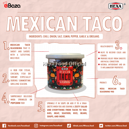 HEXA MEXICAN TACO SEASONING 90g